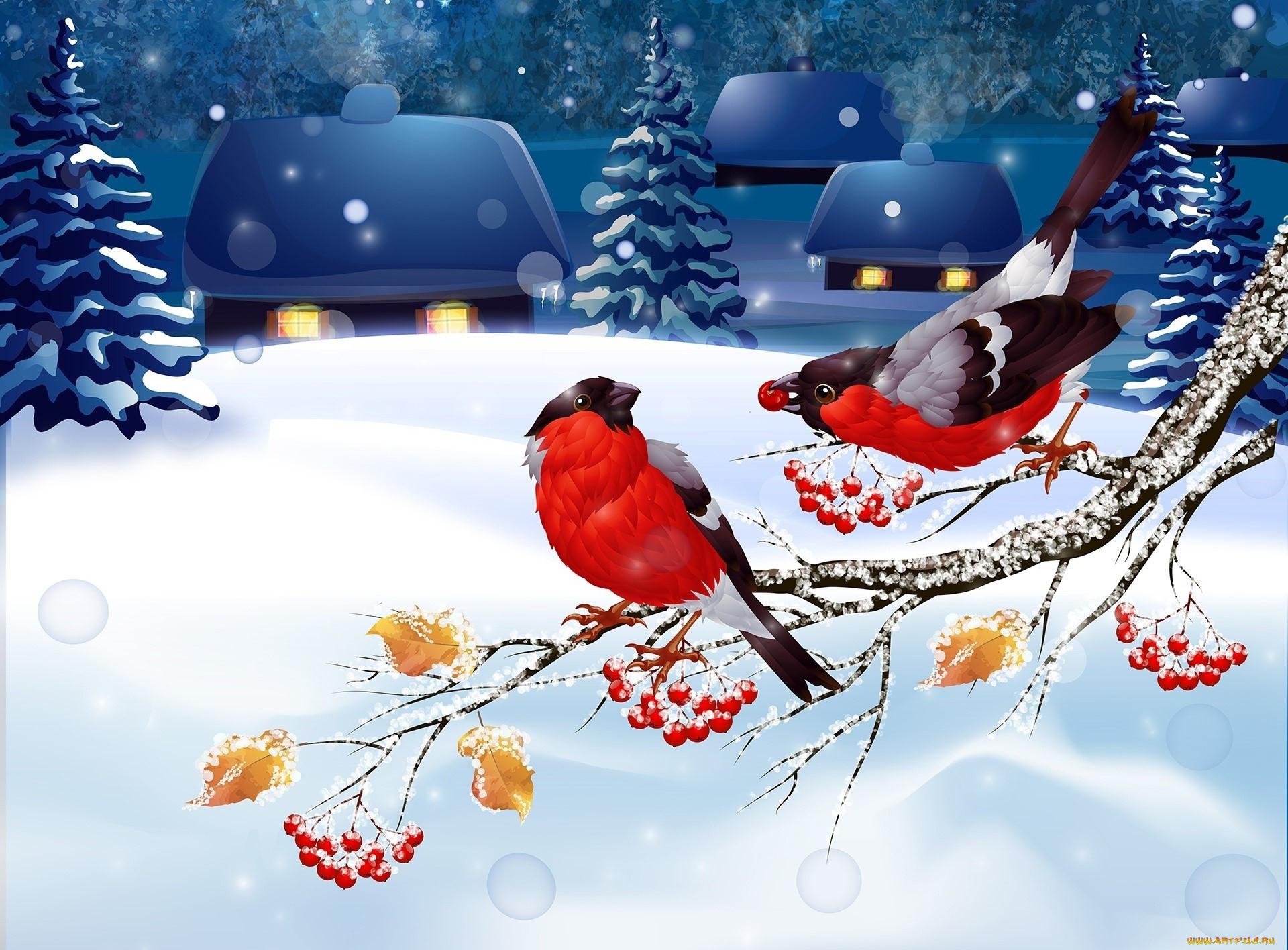 цезарь картинки новогодние с птичками преданиям